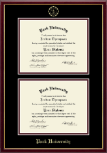 Park University Diploma Frame - Double Diploma Frame in Galleria
