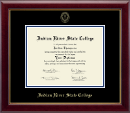 Indian River State College Diploma Frame - Gold Embossed Diploma Frame in Gallery