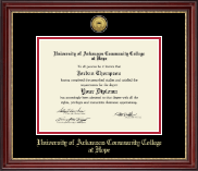 University of Arkansas Community College at Hope Diploma Frame - Gold Engraved Diploma Frame in Kensington Gold