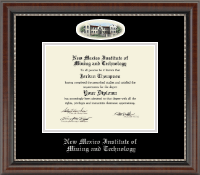 New Mexico Institute of Mining & Technology Diploma Frame - Campus Cameo Diploma Frame in Chateau