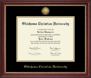 Oklahoma Christian University Diploma Frame - Gold Engraved Diploma Frame in Kensington Gold