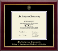 St. Catherine University Diploma Frame - Gold Embossed Diploma Frame in Gallery