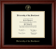University of the Southwest Diploma Frame - Gold Embossed Diploma Frame in Cambridge