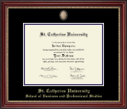 St. Catherine University Diploma Frame - Masterpiece Medallion Diploma Frame in Kensington Gold