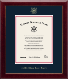 United States Coast Guard Certificate Frame - Gold Embossed Certificate Frame in Gallery