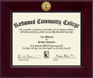 Kirkwood Community College Diploma Frame - Century Gold Engraved Diploma Frame in Cordova