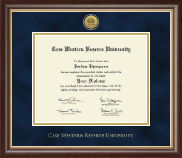 Case Western Reserve University Diploma Frame - Gold Engraved Medallion Diploma Frame in Hampshire