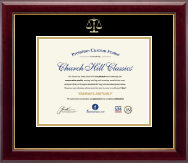Legal Certificate Frames and Gifts Certificate Frame - Embossed Law Certificate Frame in Gallery