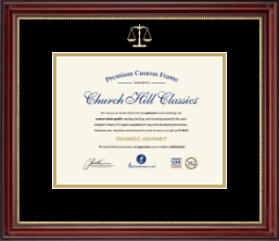 Legal Diploma Frames and Gifts Diploma Frame - Gold Embossed Law School Diploma Frame in Kensington Gold