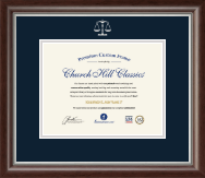 Legal Diploma Frames and Gifts Diploma Frame - Silver Embossed Law School Diploma Frame in Devonshire