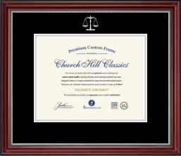 Legal Diploma Frames and Gifts Diploma Frame - Silver Embossed Law School Diploma Frame in Kensington Silver