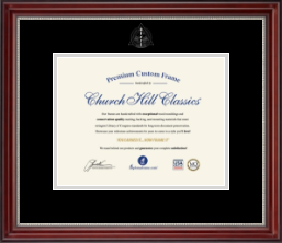 Dentistry Diploma Frames and Gifts Diploma Frame - Silver Embossed Dental School Diploma Frame in Kensington Silver