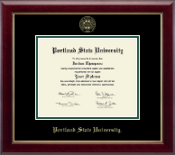 Portland State University Diploma Frame - Gold Embossed Diploma Frame in Gallery
