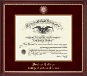 Boston College Diploma Frame - Masterpiece Medallion Diploma Frame in Kensington Gold