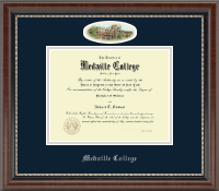 Medaille College Diploma Frame - Campus Cameo Diploma Frame in Chateau