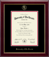 University of Rio Grande Diploma Frame - Gold Embossed Diploma Frame in Gallery