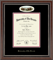 University of Rio Grande Diploma Frame - Campus Cameo Diploma Frame in Chateau