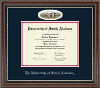 University of South Alabama Diploma Frame - Campus Cameo Diploma Frame in Chateau