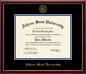 Athens State University Diploma Frame - Gold Embossed Diploma Frame in Galleria