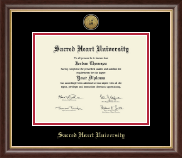 Sacred Heart University Diploma Frame - Gold Engraved Medallion Diploma Frame in Hampshire