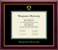 Binghamton University Diploma Frame - Gold Embossed Diploma Frame in Gallery