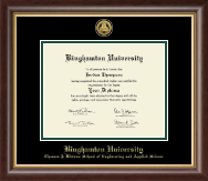 Binghamton University Diploma Frame - Gold Engraved Medallion Diploma Frame in Hampshire
