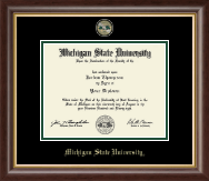 Michigan State University Diploma Frame - Masterpiece Medallion Diploma Frame in Hampshire