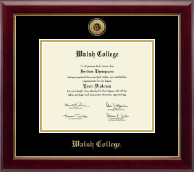 Walsh College Diploma Frame - Gold Engraved Diploma Frame in Gallery