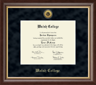 Walsh College Diploma Frame - Gold Engraved Diploma Frame in Hampshire