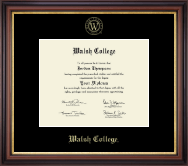 Walsh College Diploma Frame - Gold Embossed Diploma Frame in Regency Gold