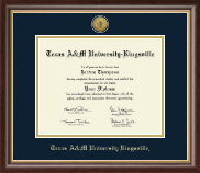 Texas A&M University Kingsville Diploma Frame - Gold Engraved Medallion Diploma Frame in Hampshire