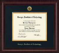 Georgia Institute of Technology Diploma Frame - Presidential Gold Engraved Diploma Frame in Premier