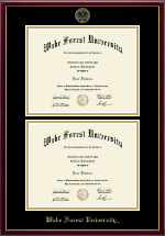Wake Forest University Diploma Frame - Double Diploma Frame in Galleria
