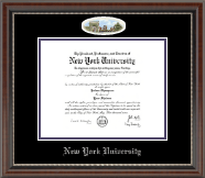 New York University Diploma Frame - Campus Cameo Diploma Frame in Chateau