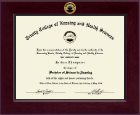 Trinity College of Nursing & Health Sciences Diploma Frame - Century Gold Engraved Diploma Frame in Cordova