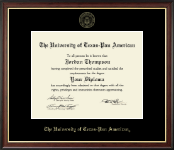 The University of Texas Pan American Diploma Frame - Gold Embossed Diploma Frame in Studio Gold