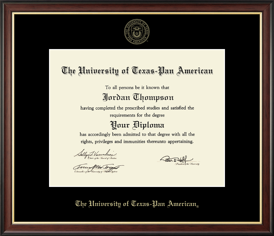 the university of texas pan american gold embossed diploma frame  the university of texas pan american gold embossed diploma frame in studio gold item 202585