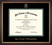 York College of Pennsylvania Diploma Frame - Gold Embossed Diploma Frame in Regency Gold