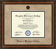 Virginia Wesleyan College Diploma Frame - Heirloom Edition Diploma Frame in Ashford