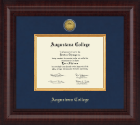 Augustana College Illinois Diploma Frame - Presidential Gold Engraved Diploma Frame in Premier