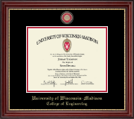 University of Wisconsin Madison Diploma Frame - Masterpiece Medallion Diploma Frame in Kensington Gold