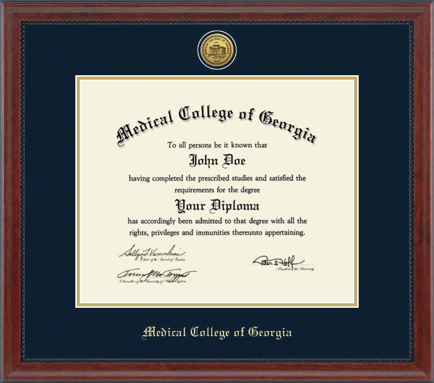 Medical College of Georgia Gold Engraved Diploma Frame in ...