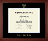 Daytona State College Diploma Frame - Gold Embossed Diploma Frame in Cambridge