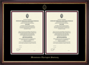 Double Certificate Frame in Regency Gold