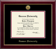 Gannon University Diploma Frame - Gold Engraved Medallion Diploma Frame in Gallery
