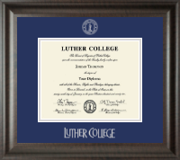 Luther College Diploma Frame - Silver Embossed Diploma Frame in Acadia