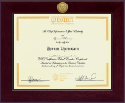 CIO University Certificate Frame - Century Gold Engraved Certificate Frame in Cordova