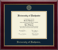 University of Rochester Diploma Frame - Gold Embossed Diploma Frame in Gallery