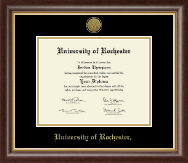 University of Rochester Diploma Frame - Gold Engraved Medallion Diploma Frame in Hampshire