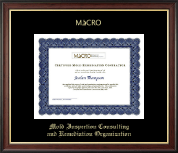 Mold Inspection Consulting and Remediation Organization Certificate Frame - Gold Embossed Certificate Frame in Studio Gold